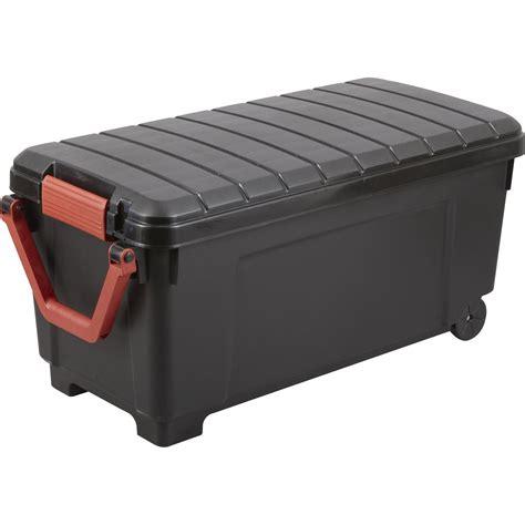 Malle Heavy box plastique , l.50 x P.100 x H.50 cm | Leroy ...