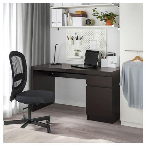 MALM Escritorio   negro marrón   IKEA