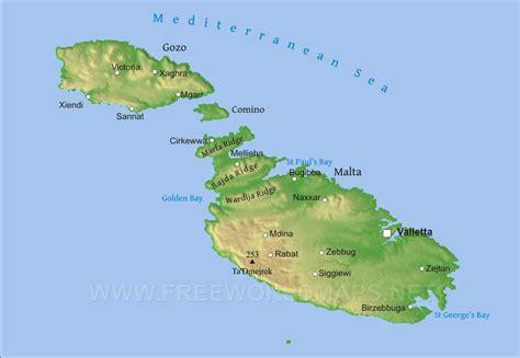 Malta Physical Map