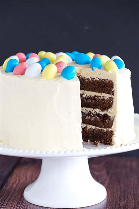 Malted Chocolate Cake with White Chocolate Frosting