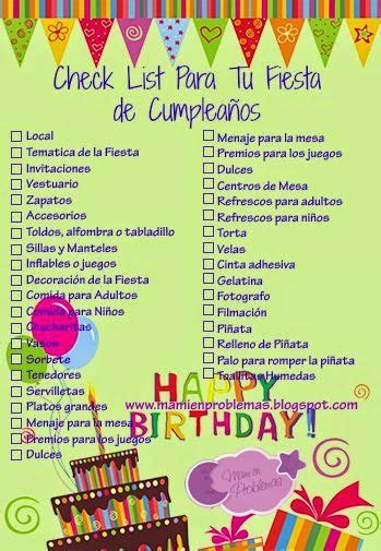 Mami en Problemas: Check List Tu Para Fiesta Infantil ...