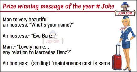 Man to very beautiful air hostess # Joke | Jokes, Puzzles ...