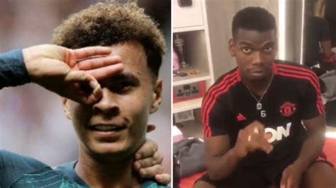 Manchester United Players Attempt The  Dele Alli Challenge ...