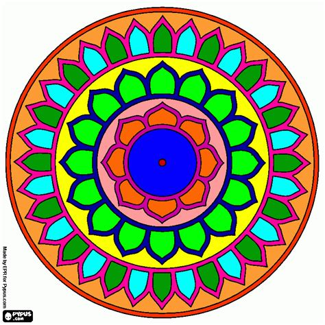 mandala 1 color para colorear, mandala 1 color para imprimir