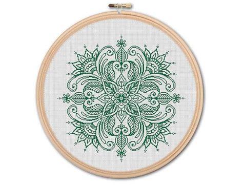 Mandala, Counted Cross stitch, Pattern PDF, Cross Stitch ...