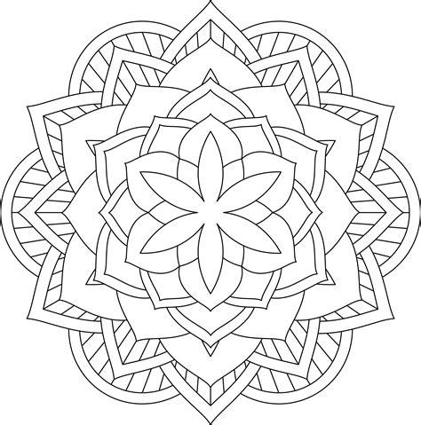 Mandala Flor Dificultad media 08 • IMPRIME MANDALAS