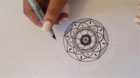 Mandala paso a paso y tips! / Dibujo Rapido   YouTube