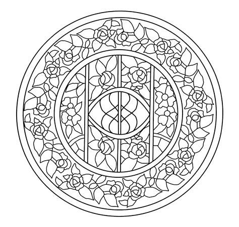 Mandalas Para Pintar: Vidriera de la Casa Navàs