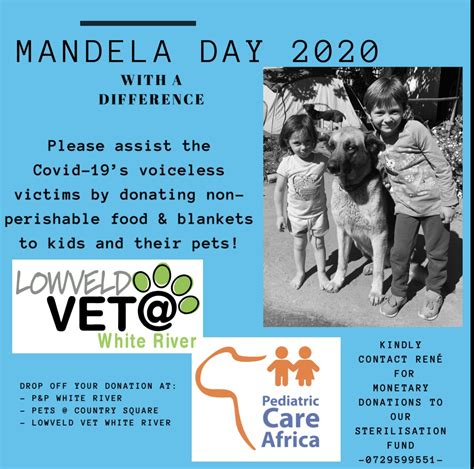 Mandela Day 2020 with a difference!!   Pediatric Care Africa