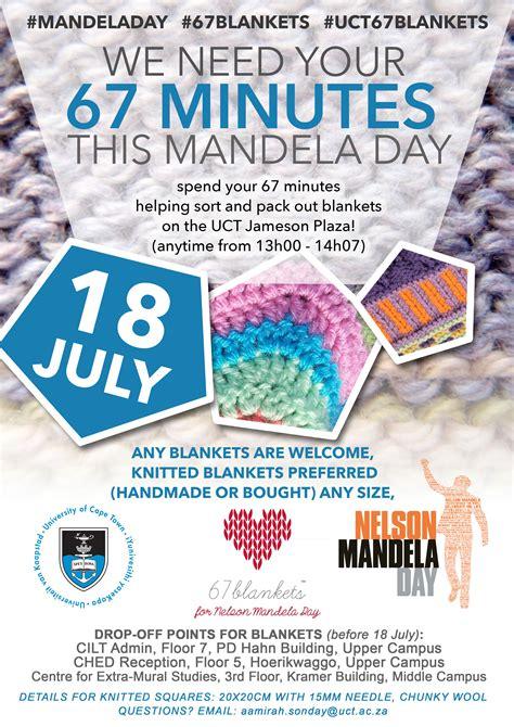 Mandela Day blanket drive   UCT News