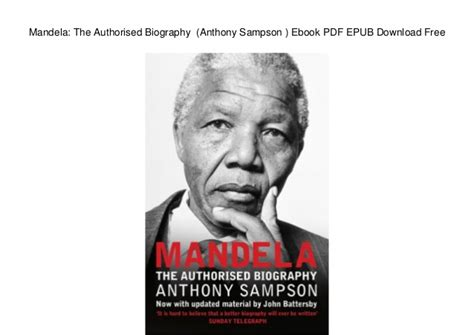Mandela: The Authorised Biography  Anthony Sampson   Ebook ...
