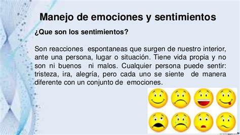 Manejo de emociones y sentimientos