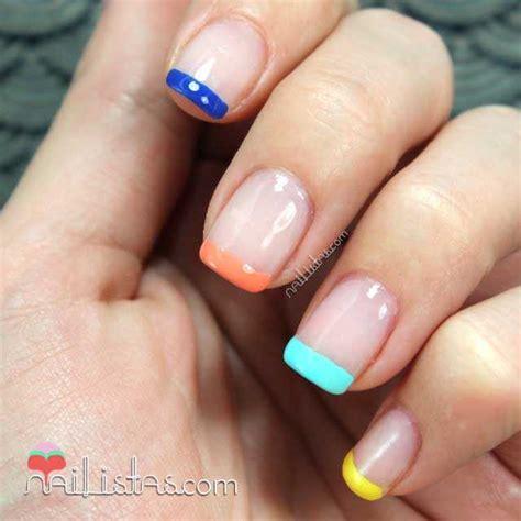 Manicura francesa de colores | Manicura de verano ...