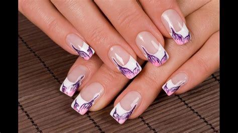 Manicura francesa uñas decoradas diseños Sencillas Faciles ...