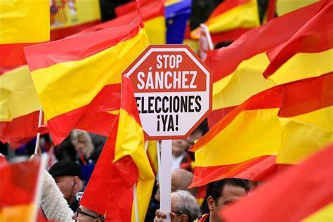 Manifestación en Madrid contra Pedro Sánchez   España ...