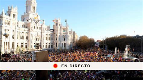Manifestación independentista Madrid, en directo: Última ...