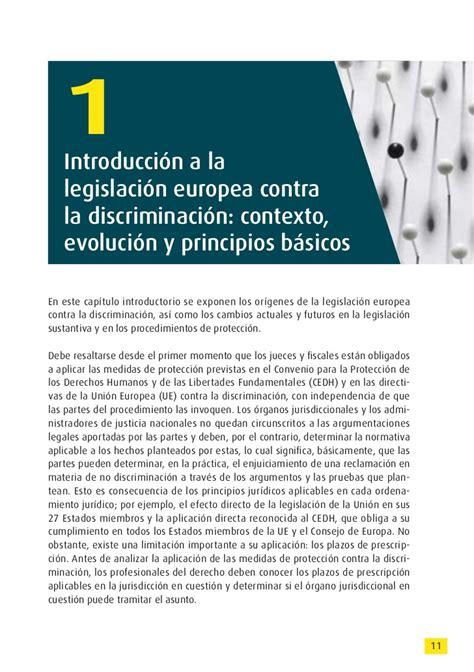 Manual de legislación europea contra la discriminación  2011