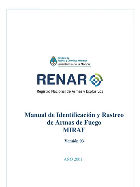Manual de Rastreo e Identificación de Armas de Fuego  M.I ...