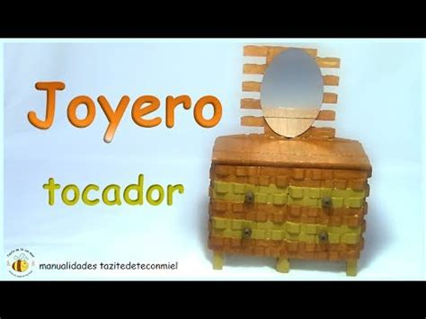 Manualidades: joyero tocador hecho con pinzas de madera ...
