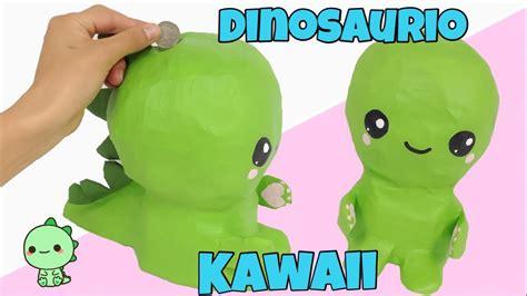 MANUALIDADES KAWAII\como hacer una alcancía DINOSAURIO ...