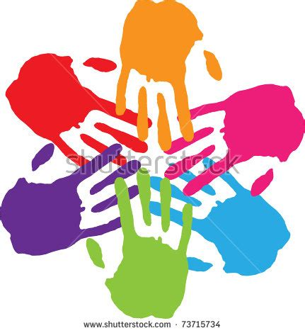 Many Hands Connecting Stock Vector Illustration 73715734 ...