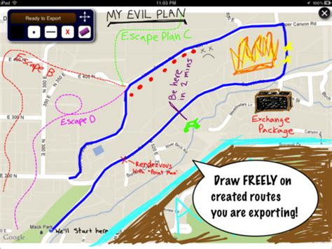 Map Draw   Route Tracking And Annotation for iPad ...