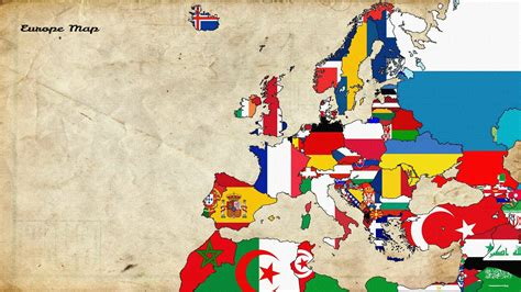 map, Europe, Old Map, Flag Wallpapers HD / Desktop and ...