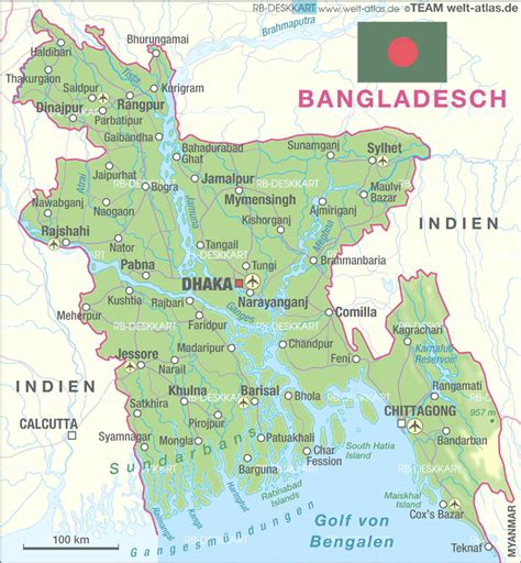 Map of Bangladesh   Map in the Atlas of the World   World ...