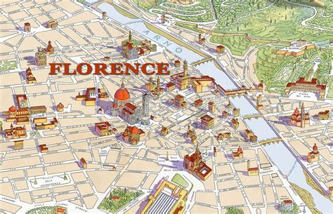Map of Florence with major Places + Sights | Best Of Our ...
