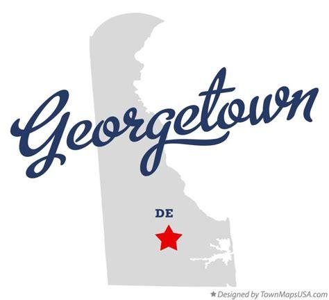 Map of Georgetown, DE, Delaware