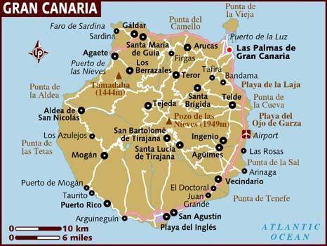Map of Gran Canaria | Canary islands gran canaria, Gran ...