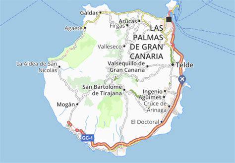 Map of Gran Canaria Island   Michelin Gran Canaria Island ...