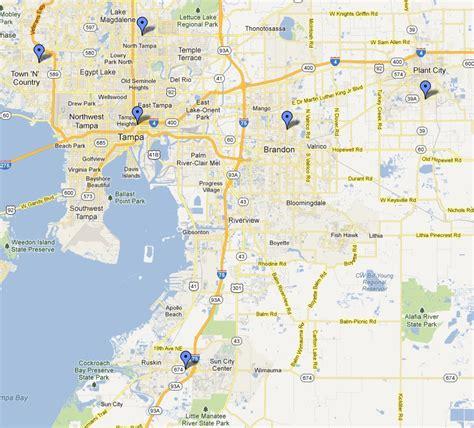 Map Of Hillsborough County Fl   Maps Catalog Online
