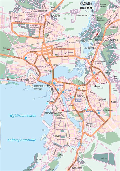 Map of Kazan. City maps of Russia — Planetolog.com