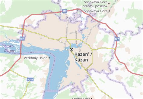 Map of Kazan   Michelin Kazan map   ViaMichelin