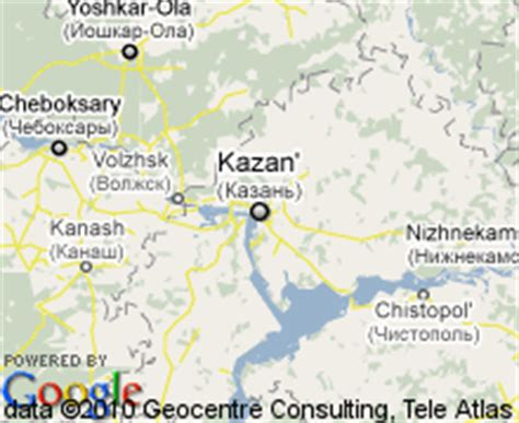 Map of Kazan, Russia | Hotels Accommodation