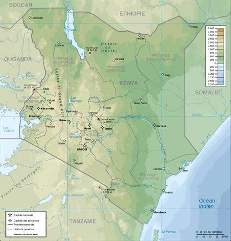 Map of Kenya  Topographic Map  : Worldofmaps.net   online ...