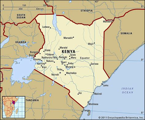 Map of Kenya   TravelsMaps.Com