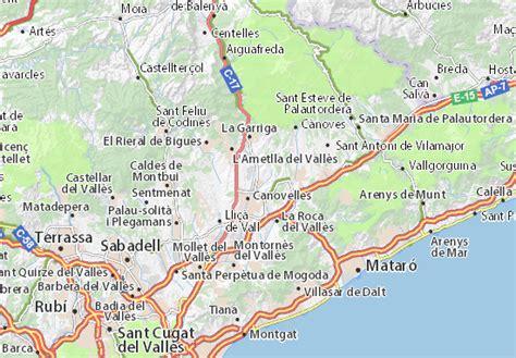 Map of Les Franqueses del Vallès   Michelin Les Franqueses ...