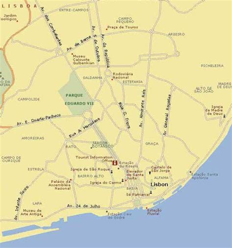 Map of Lisbon, Lisbon Maps   Mapsof.net