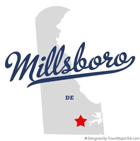 Map of Millsboro, DE, Delaware