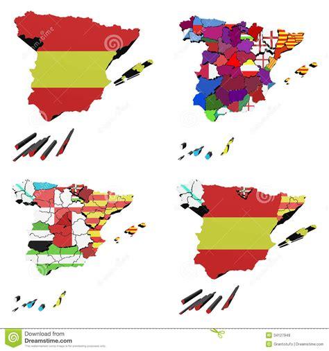 Map of Spain stock illustration. Illustration of ...