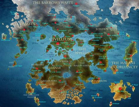 Map of Teirros by ForgetDeny on DeviantArt