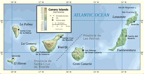 Map of the Canary Islands • Mapsof.net