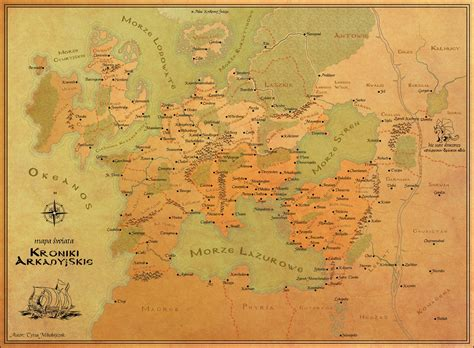 Map of the fantasy world  Arcadian Chronicles  by ...