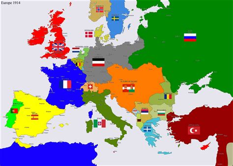 Map Of WW1