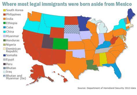 Map reveals where majority of U.S. immigrants were born ...