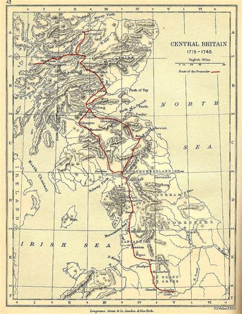 Map: Route of the Young Pretender