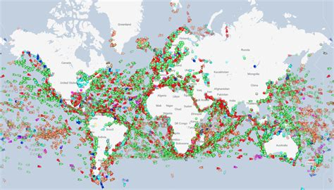 Map: Visualizing Every Ship at Sea in Real Time