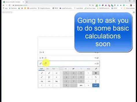 MAP4C Desmos Scientific Calculator   YouTube